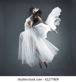 Picture a beautiful fairy flying girl in white dress