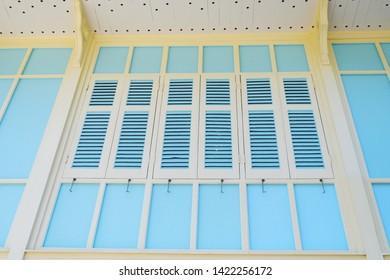 Picture of beautiful window vintage designed gazebo patio - copy space image