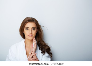 picture of beautiful woman beautiful woman in spa salon