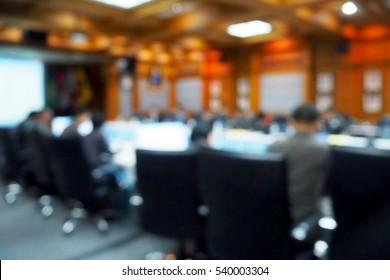 Picture blurred  for background abstract and can be illustration to article of Business People Meeting
