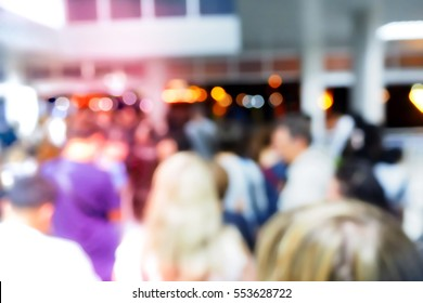 Picture blurred  for background abstract and can be illustration to article of People