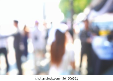 Picture blurred  for background abstract and can be illustration to article of people walking in festival