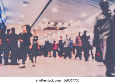 Picture blurred  for background abstract and can be illustration to article of shopping mall
