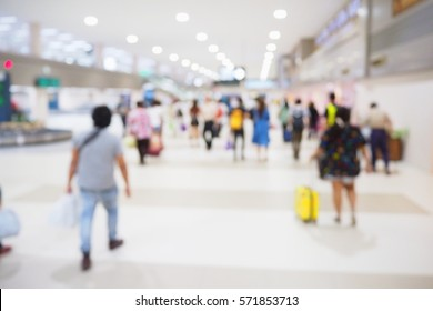 Picture blurred  for background abstract and can be illustration to article of people in airport