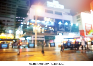 Picture blurred  for background abstract and can be illustration to article of night city life
