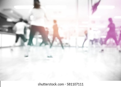Picture blurred  for background abstract and can be illustration to article of aerobic class
