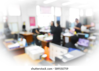 Picture blurred  for background abstract and can be illustration to article of business meeting