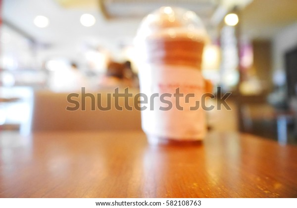 Picture blurred  for background abstract and can be illustration to article of smoothies