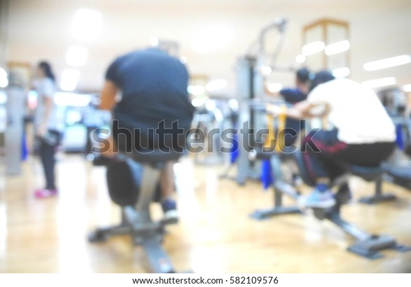 Picture blurred  for background abstract and can be illustration to article of fitness center