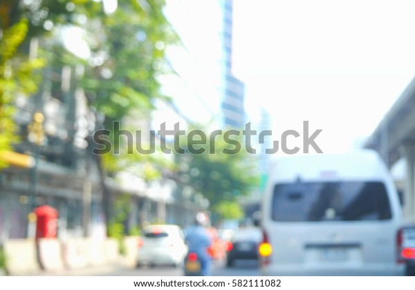 Picture blurred  for background abstract and can be illustration to article of traffic