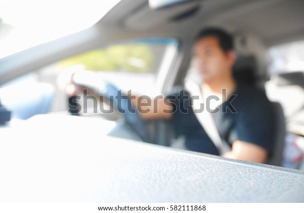 Picture blurred  for background abstract and can be illustration to article of people drive car