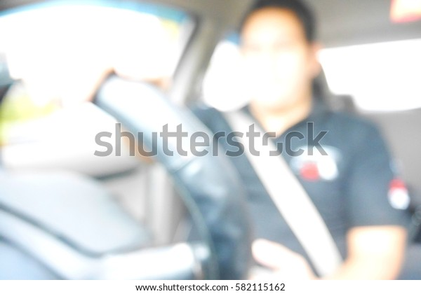 Picture blurred  for background abstract and can be illustration to article of man drive car