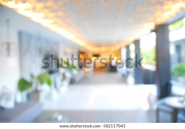 Picture blurred  for background abstract and can be illustration to article of living room