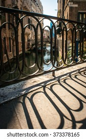 Picture of a bridge over a chanel in Venice, Italy