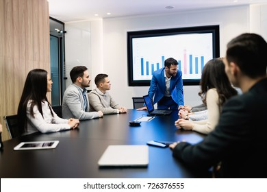 Picture of business seminar in conference room