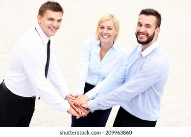 A picture of a business team