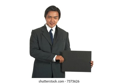 a picture of a businessman over a white background