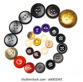 Picture of a buttons placed in spiral.
