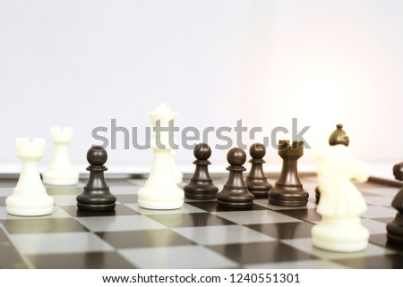 Picture Chess Game Isolated On White Stock Photo (Edit Now