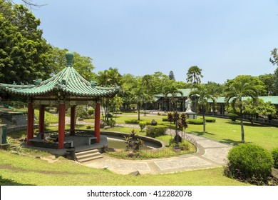 The picture of chinese garden in Rizal park, Manila, Philippines