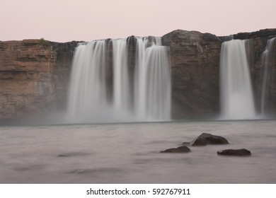 Picture of Chitrakote waterfalls after Sun down in Bastar district