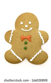 Picture of an christmas gingerbread man. Isolated on white.