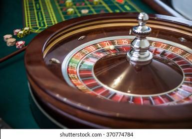 Picture of a classic casino roulette wheel.