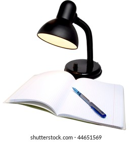 Picture color desktop electric lamps and notebooks