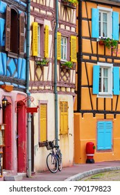 picture of colorful old buildings in Colmar, Alsace, France