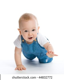 picture of crawling baby boy