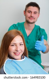 Picture of a dental examination in the dental clinic