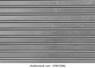 Picture of detail of a blind made of metal. Texture. Stock photography.