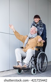Picture of disabled man enjoying a travel
