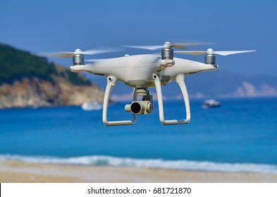 Picture of drone flying in nature