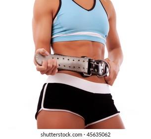 Picture of fasten gym belt