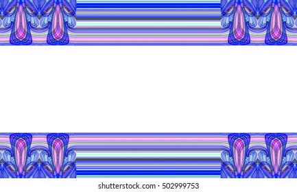 Picture frame Abstract background Laser light multicolored for design , Pattern fame with space for text