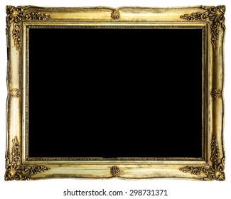 Picture frame with black background