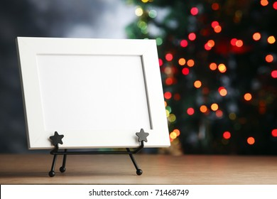 Picture frame with christmas tree.
