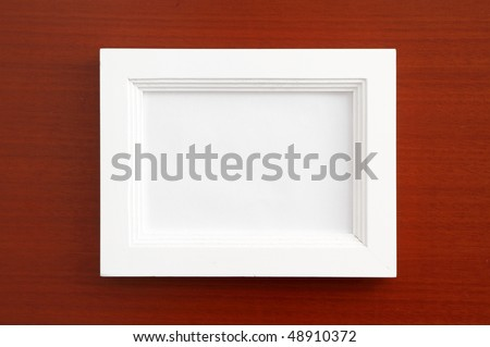 Picture Frame Home Decoration White Wooden Stock Photo Edit Now
