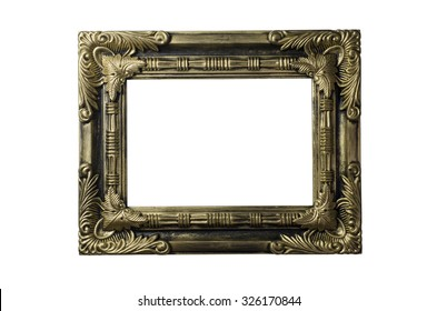 picture frame isolate white background