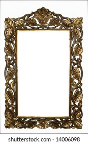 Picture  frame isolated on a white background.
