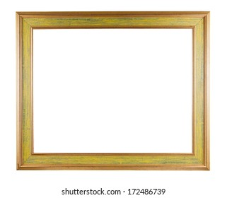 Picture frame isolated on white background with clipping path