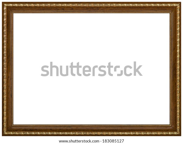 Picture frame, isolated on white background, with clipping path