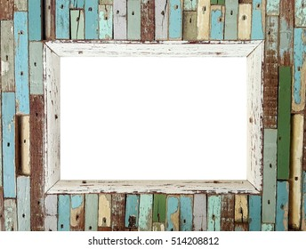 picture frame made of wood style vintage ,handmade,memo,note,copy space,retro,vintage