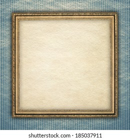 Picture frame on patterned background