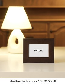 picture frame on the table