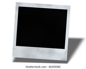 picture, frame with a shadow on a white background