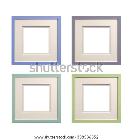 Picture Frames Bevel Mount Isolated Large Stock Photo (Edit Now ...