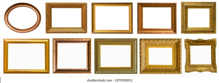 Picture frames collection set isolated on white