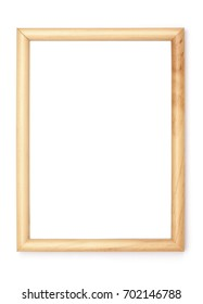 Picture Frames Series, isolated on White Background Cut-Out: light wood pine